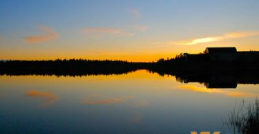 Summer Midnight Sun Yellowknife