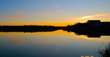 Summer Midnight Sun Yellowknife