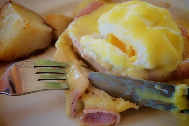 Eating Eggs Benny