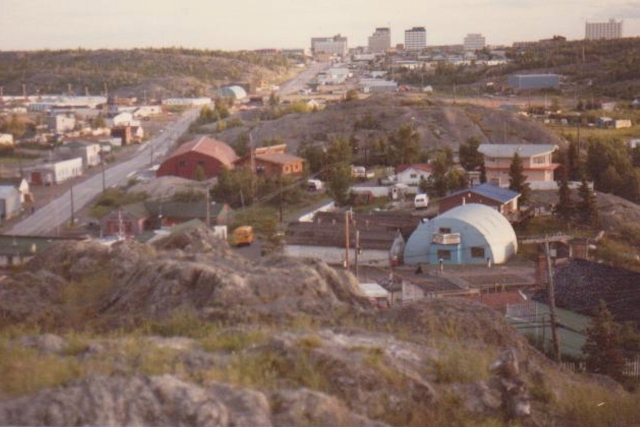 Old Town Hill Yellowknife 1970