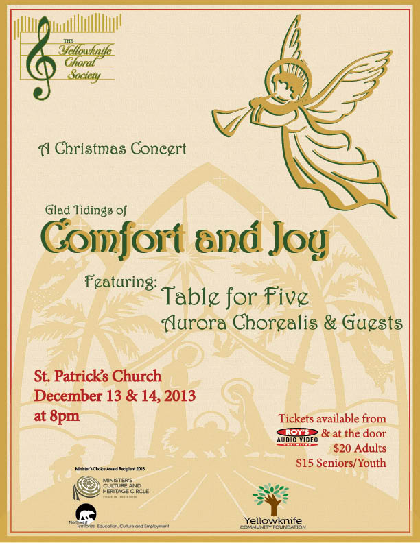 YK Choral Society - Comfort and Joy @ St. Patrick's Parish Church | Yellowknife | Northwest Territories | Canada