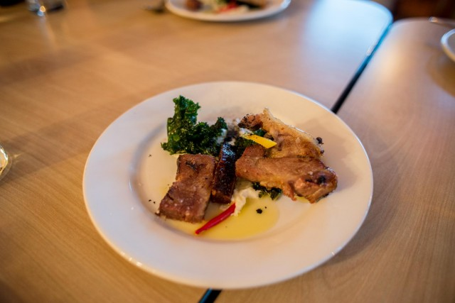 Pork Belly and Kale