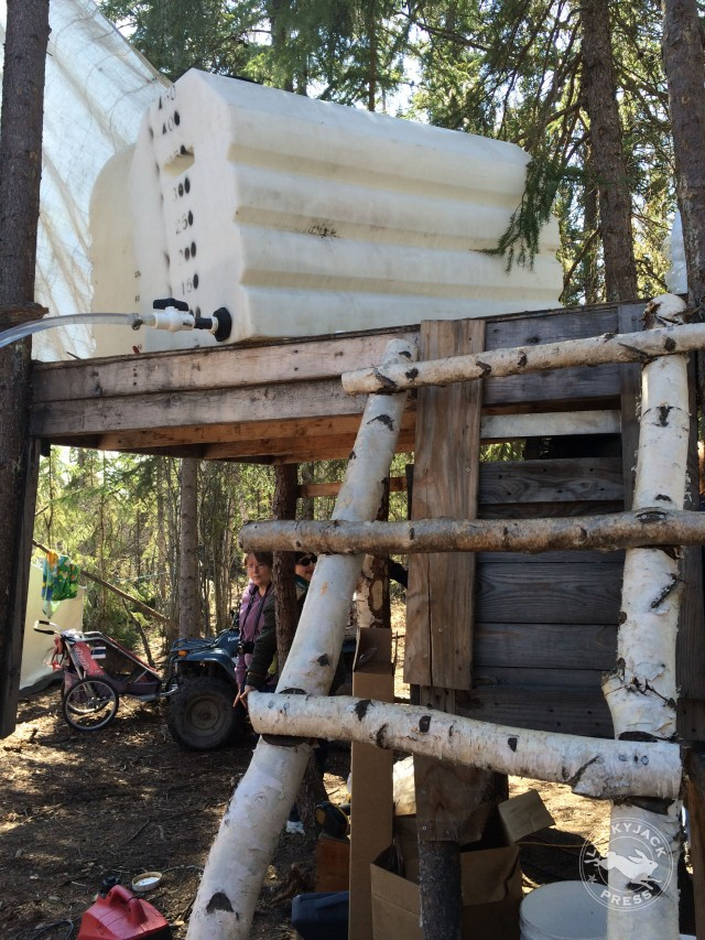 Birch Sap Holding Tank