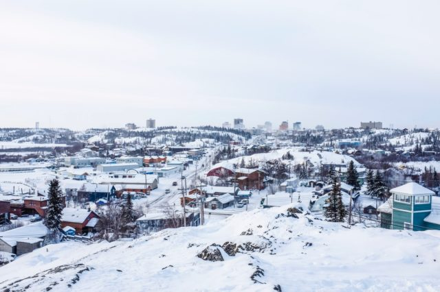 Yellowknife Skyline in Winter