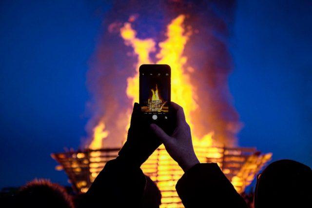 Yellowknife Festival Burn on the Bay