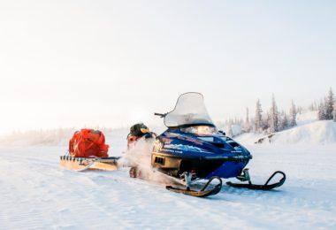 Snowmobiling in Yellowknife