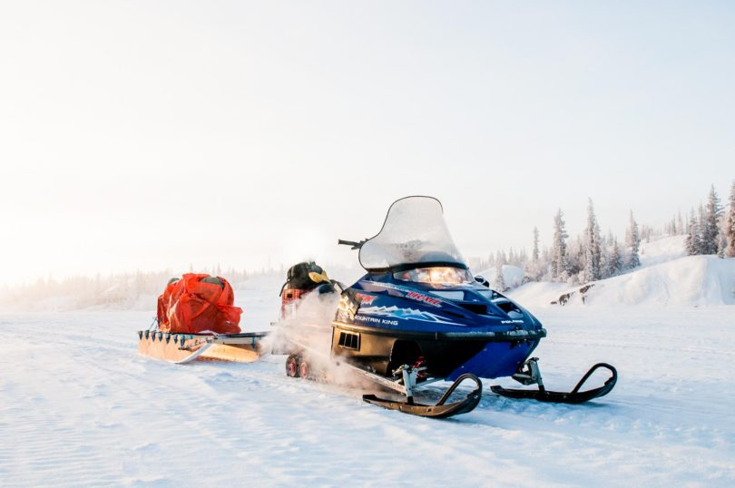Snowmobiling in Yellowknife