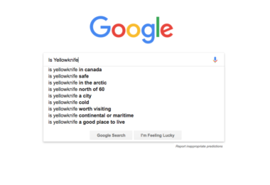 Is Yellowknife Google Searchs
