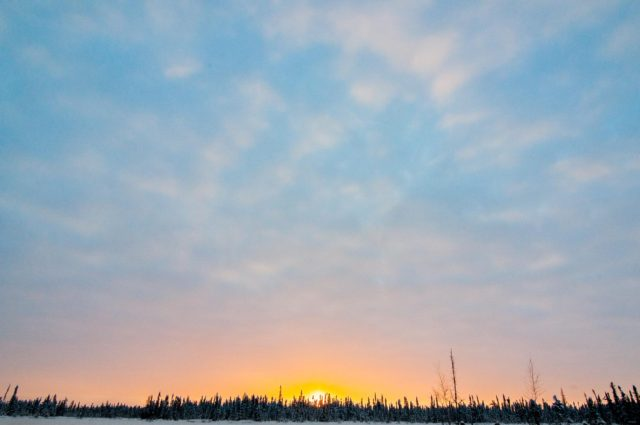 Yellowknife Winter Solstice Shortest Day